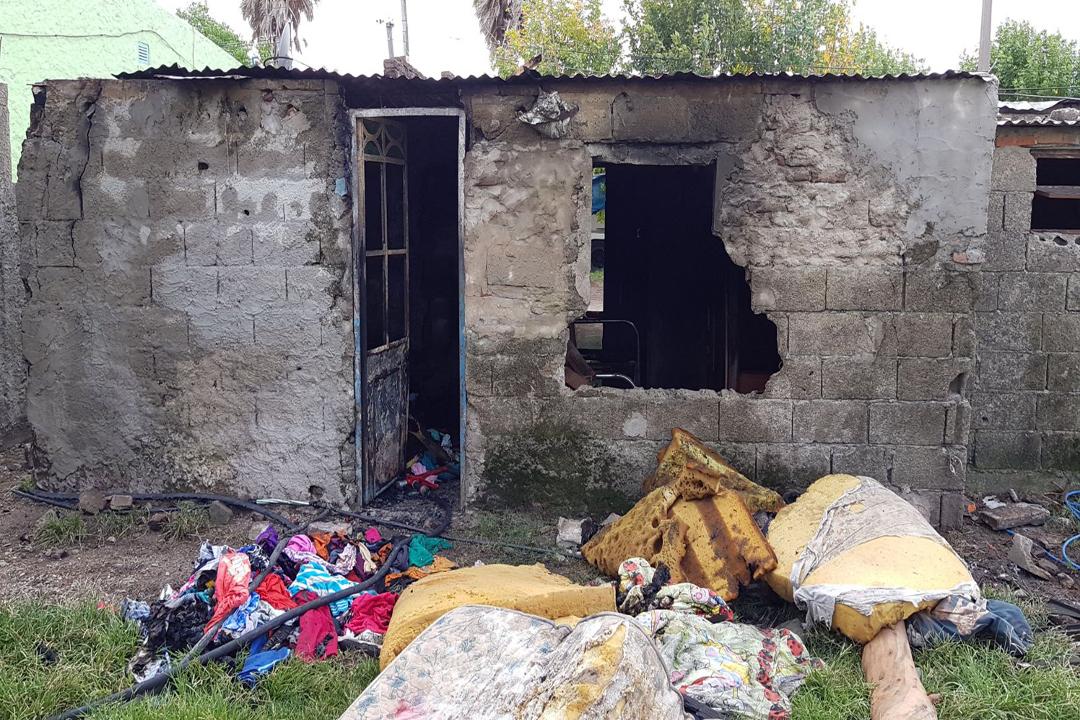 Dos niños murieron tras el incendio de su vivienda — Nueva Palmira