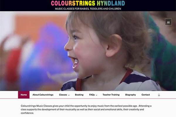 Colourstrings Hyndland website