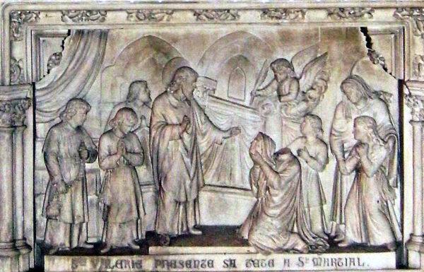 Sainte Valérie présente sa tête à Martial, premier évêque de Limoges