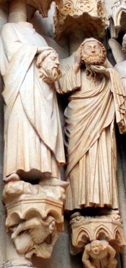 Saints Ache et Acheul (portail Saint Firmin, Cathedrale d'Amiens)