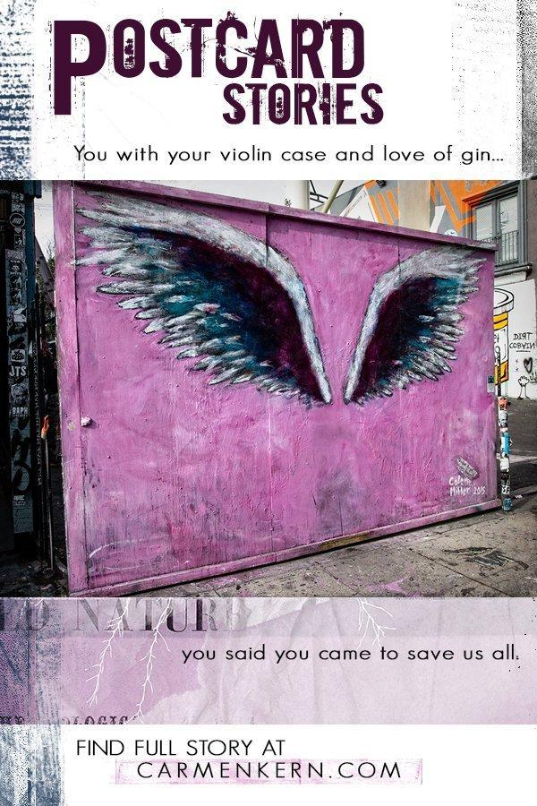 city of angels, angel wing, graffiti, street art