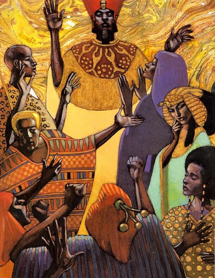 Illustration from the children's book, Aida, told by Leontyne Price and illustrated by the Dillons
