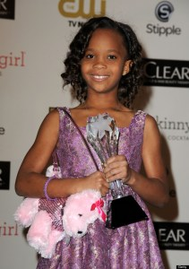 Quvenzhane Wallis at the 18th Annual Critics' Choice Movie Awards in January 2013.