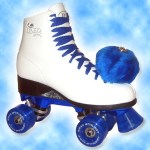 A close replica of my roller skates... just add more handmade pom poms!