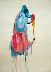 El beso Watercolour on paper 78x107cms