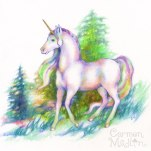 Forest Unicorn 8x8 Colored pencil on paper