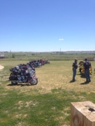 A big reveal of a motorcycle ministry brought bikers in one Sunday.
