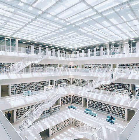 interior biblioteca Sttutgart