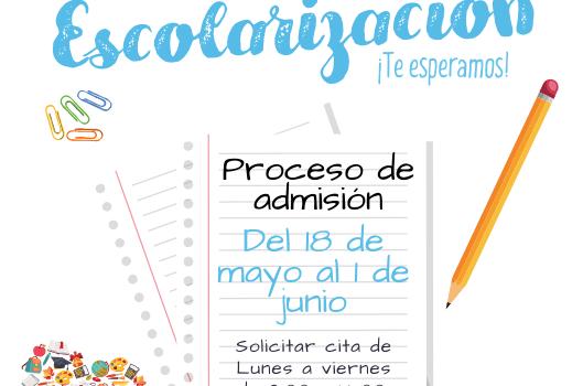 Escolarización proceso de admisión