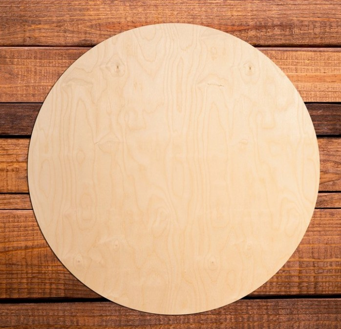 wood circle charger