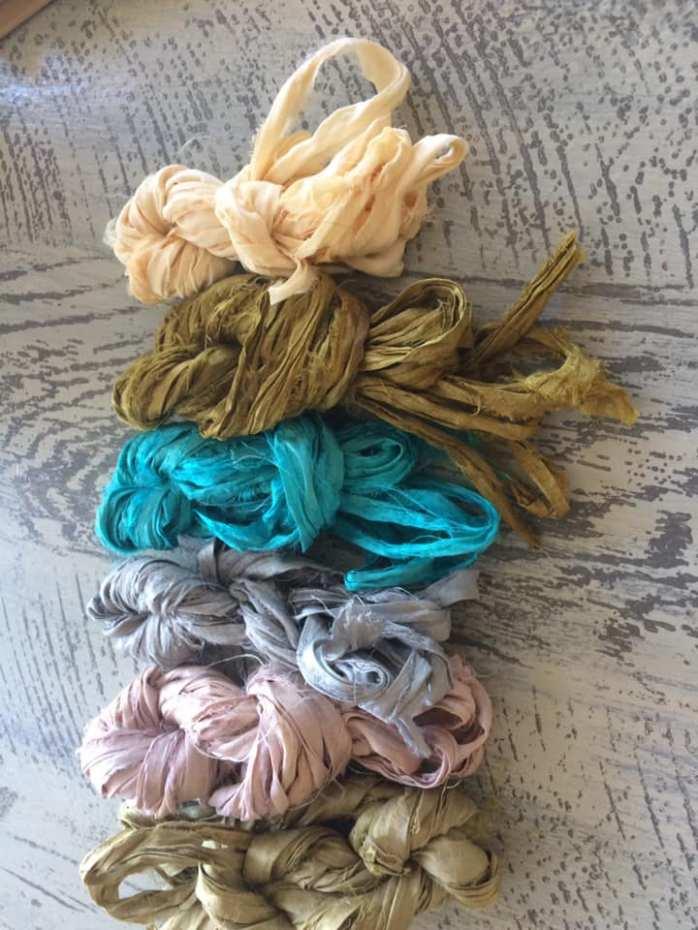 5 Yards  Sari silk ribbon