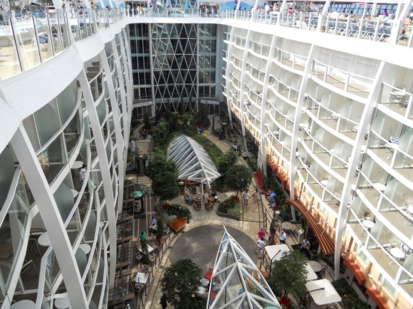 Looking down at Central Park on the Oasis of the Seas