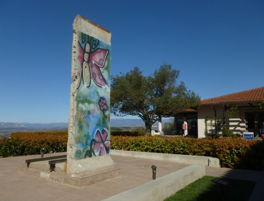 A piece of the Berlin Wall displayed at Ronald Reagan Presidential Library