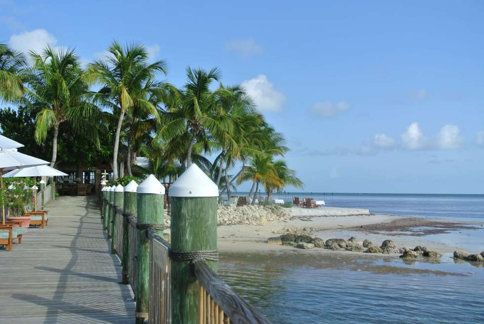 Little Palm Island dock, Little Torch Key, Florida