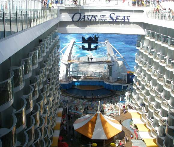 Staterooms overlooking Boardwalk, Oasis of the Seas