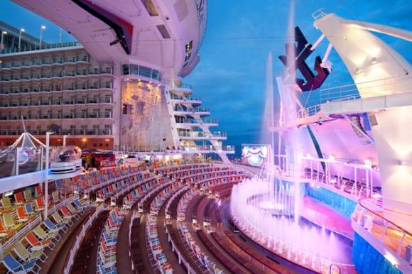 Aqua Theatre on Oasis of the Seas (Photo courtesy of Royal Caribbean)