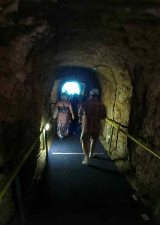 Melissani Cave entrance towards Melissani Lake