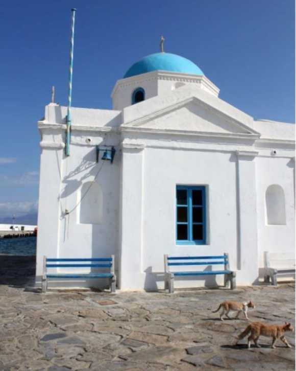 Orthodox Greek Church, Mykonos, Greece