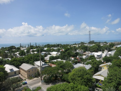 View of Key West from the platform of the Key West Lighthouse