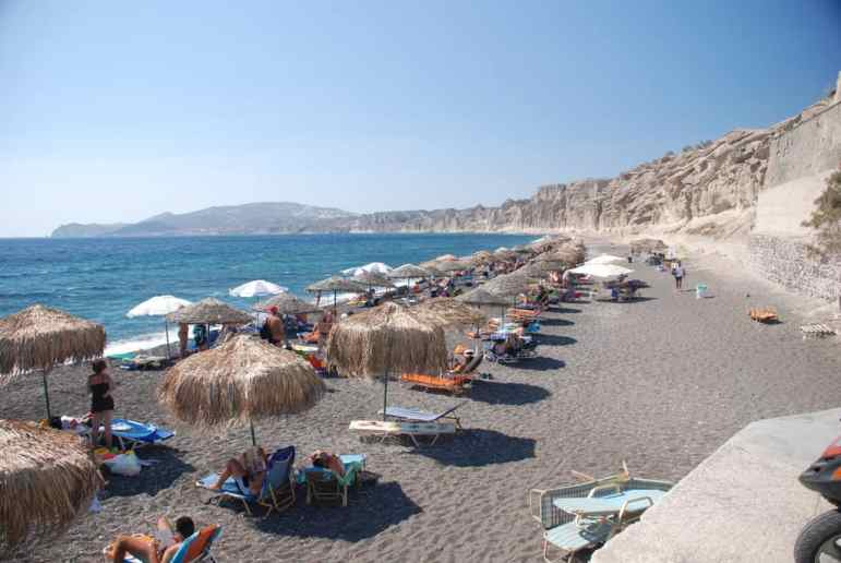 Santorini Beaches - Vlychada Beach