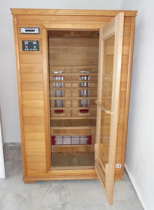 Canaves Oia Suite Sauna, Santorini Greece