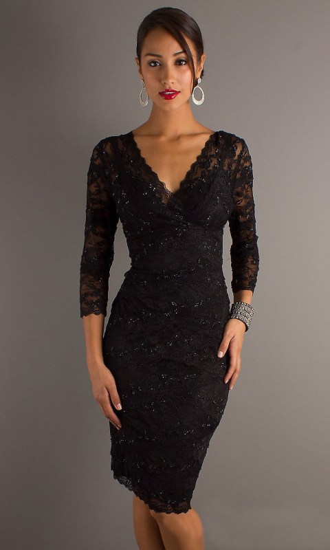 black-lace-cocktail-dress