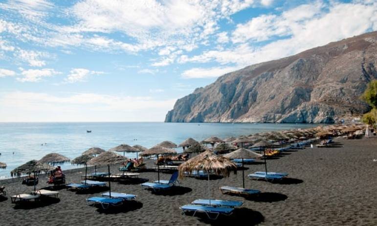 Santorini Beaches Perivolos Beach