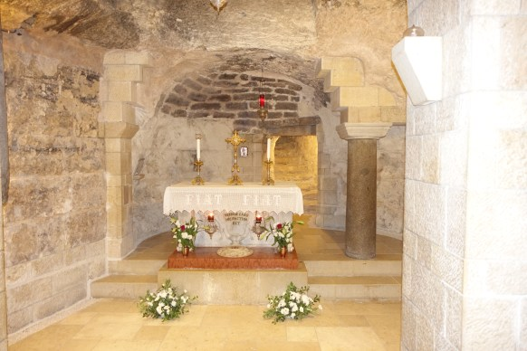 Grotto of the Annunciation Altar in the Basilica of the Annunciation