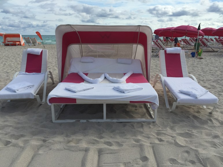 W Hotel Beach Lounge Chairs