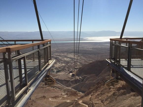 Cable Car Base in Masada at the top