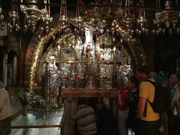 Rock of Calvary in Greek Orthodox Calvary,  Church of the Holy Sepulchre