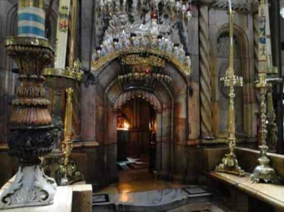 Entrance to the edicule, which contains the tomb of Christ