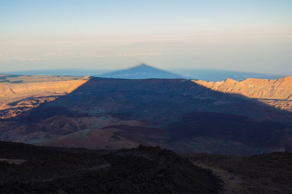 Mount Teide shadow as the sun starts to set