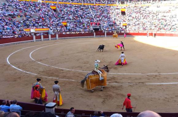 Picadores in Bullfighting ring at Plaza de Toros, Madrid