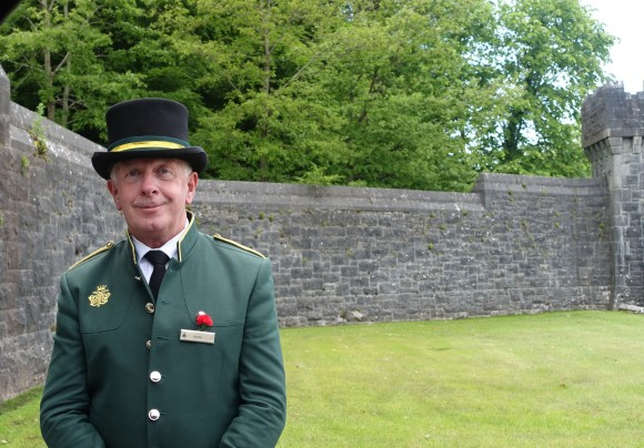 Guard at Ashford Castle Estate Entrance, Ireland