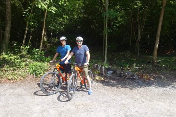 Biking the grounds at Ashford Castle