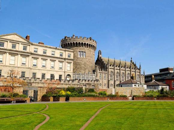 Dublin Castle and the Chester Beatty Library and Gardens, Ireland