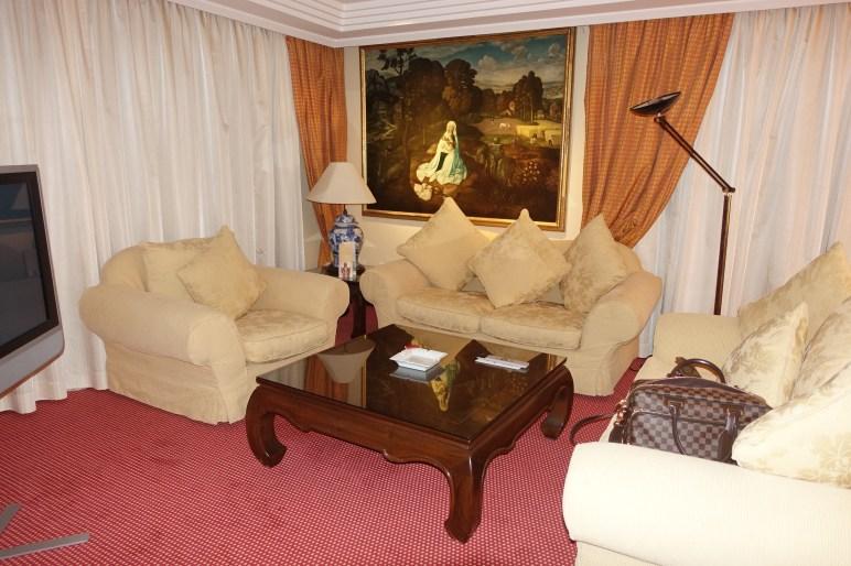 Penthouse Suite Living Area, Hotel Botanico