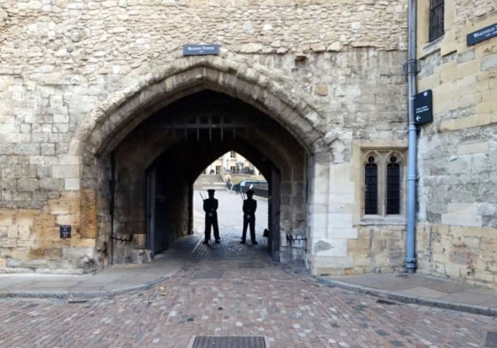 Tower of London - members of the duty regiment Foot Guards