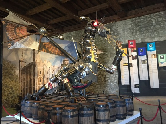 Royal Armouries Dragon was constructed using objects and materials that represent ten institutions which were housed in the Tower
