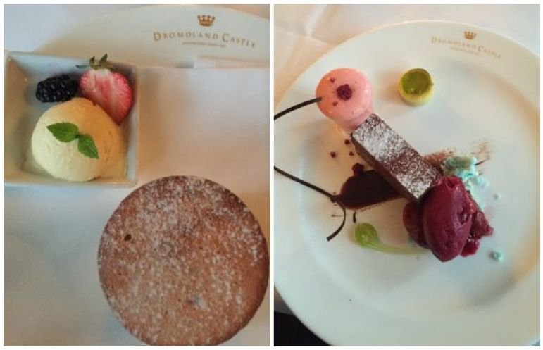 Desserts selection at Dromoland Castle