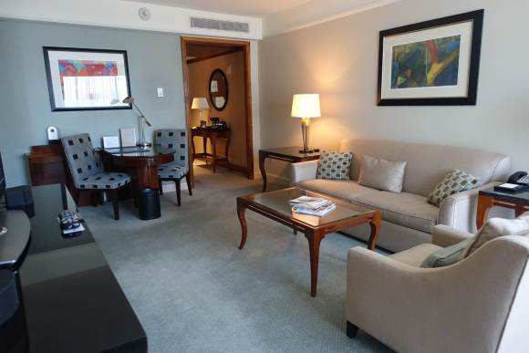 One Bedroom Suite - Living Room Area - The Ritz Carlton Westchester