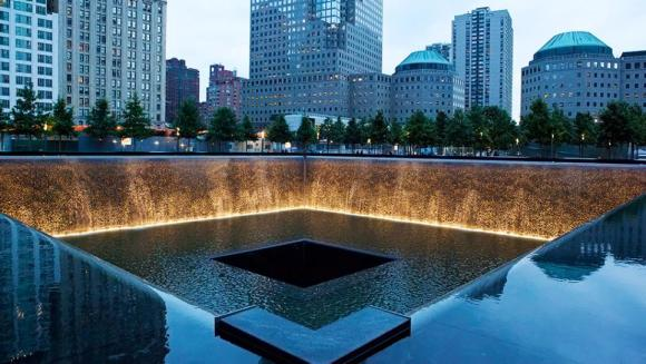 911 Memorial Freedom Tower Fountains (Photo by NYC & Company / Marley White)