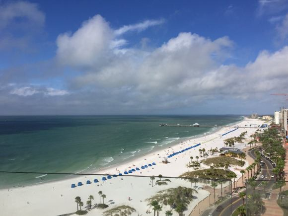 Panoramic view from your own glass balcony of the white sand beaches at Opal Sand Resort (Image Courtesy of the Opal Sands Resort)