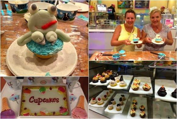 Cupcake class at the Ice Cream Store on the Boardwalk neighborhood on the Oasis of the Seas