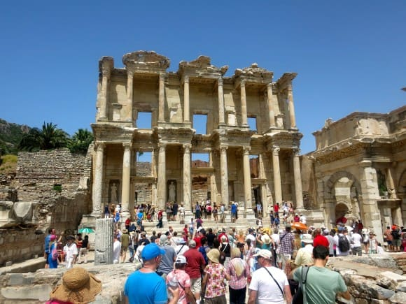 Library of Celsus by Carmen Edelson