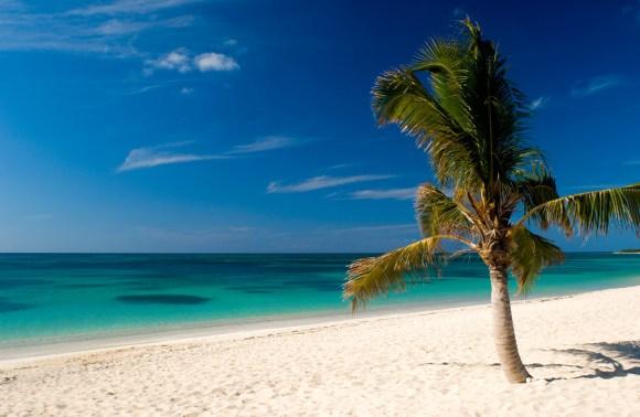 Calm seas off the Playa Ancon, Trinidad, Cuba