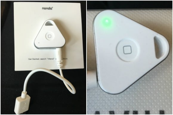 Charging the iHere Smart Key Finder