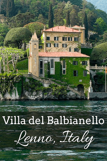 Villa del Balbianello is located on Lake Como. The villa was built in 1700, and is a picture-postcard villa that looks like a painting.
