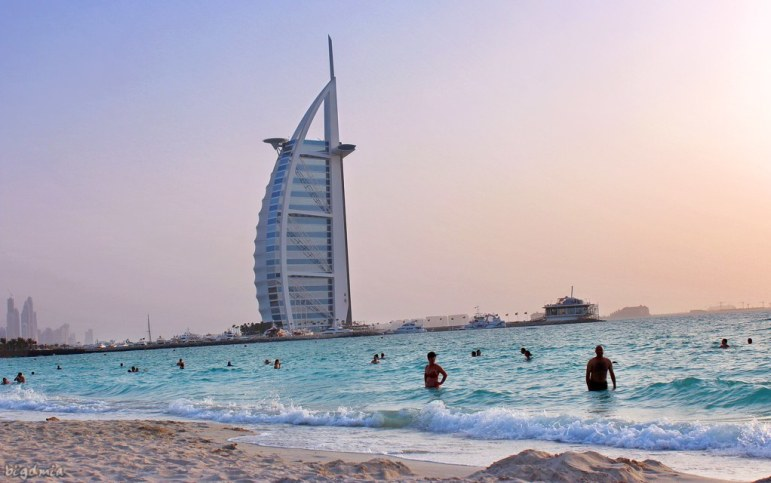 Jumeirah beach in Dubai